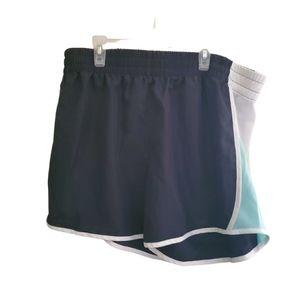 Zone Pro Athletic Shorts Black Blue White Size 1X